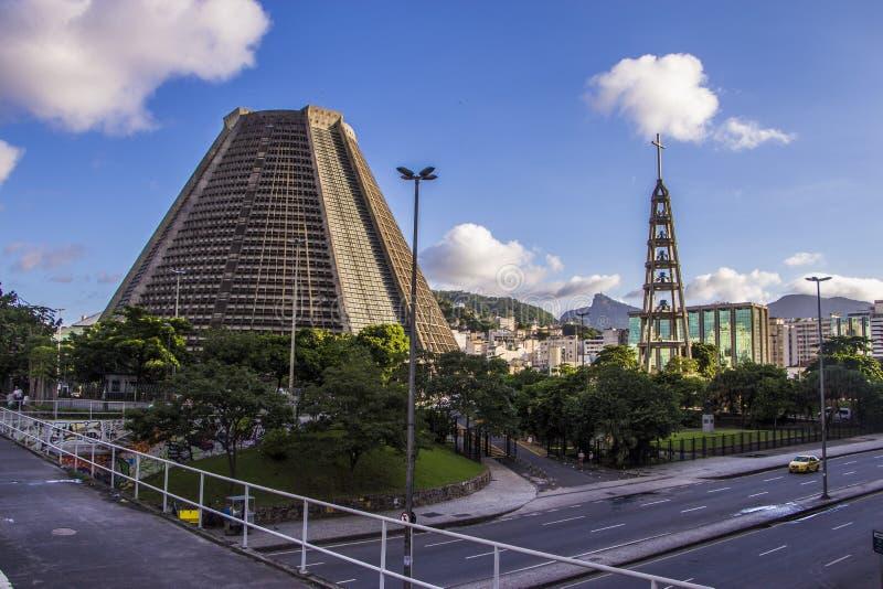 Metropolitan Cathedral of Saint Sebastian - Rio de Janeiro royalty free stock photo