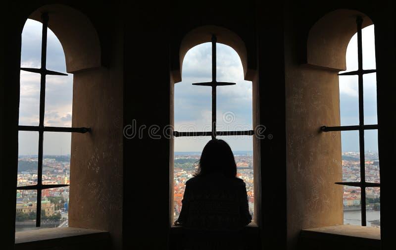 `Locked in a tower`, Saint Vitus Cathedral Katedrala svateho Vita, Prague Praha, Czech Republic Ceská republika. The Metropolitan Cathedral of Saints Vitus royalty free stock image