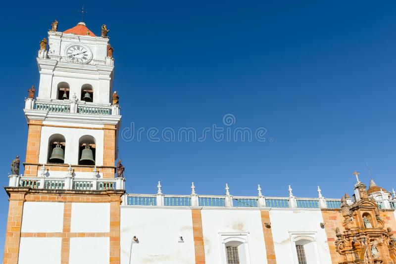 Cathedral of Sucre, Bolivia stock photo