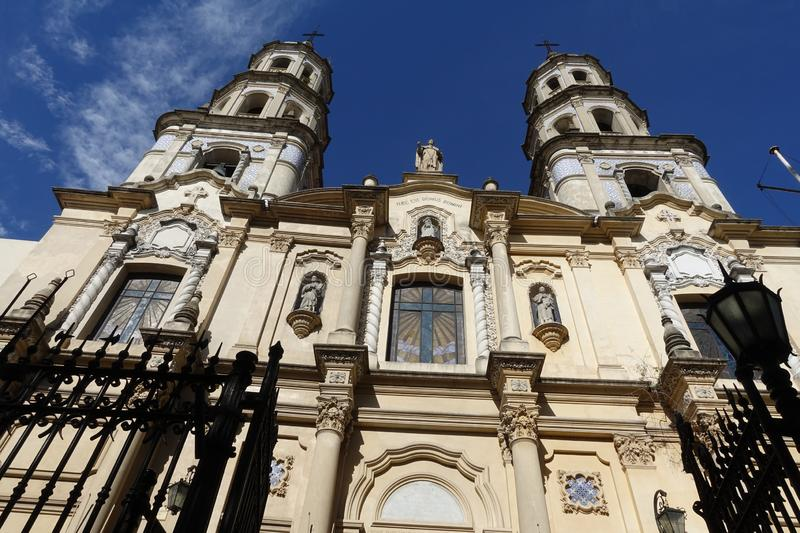 Metropolitan Cathedreal in Montevideo, Uruguay. Montevideo/Uruguay-6/1/19: Montevideo Metropolitan Cathedral is the main Roman Catholic church of Montevideo, and royalty free stock images