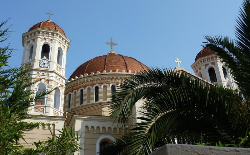Metropolitan Church of Thessaloniki, Greece royalty free stock photo