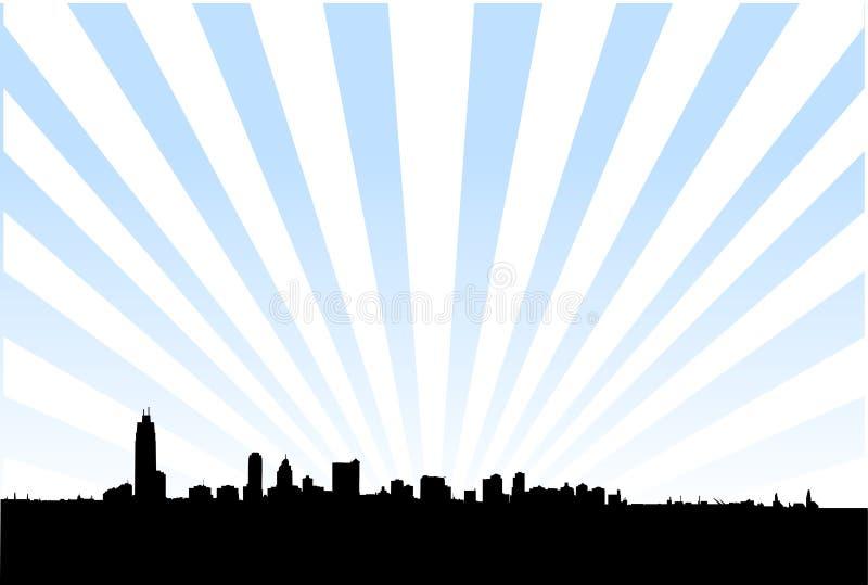 Metropolitan city skyline vector illustration