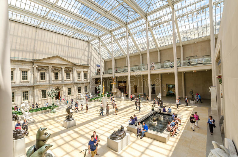 Metropolitan Museum of Art, New York City, USA. NEW YORK CITY - JUL 17: In the Metropolitan Museum of Art's on July 17, 2014 in New York. The Charles Engelhard stock photography