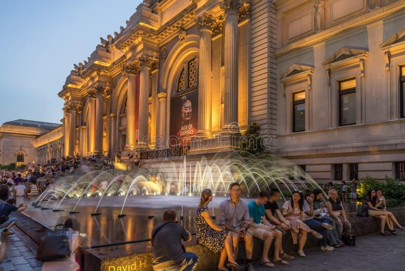 Metropolitan Museum of Art at night royalty free stock image
