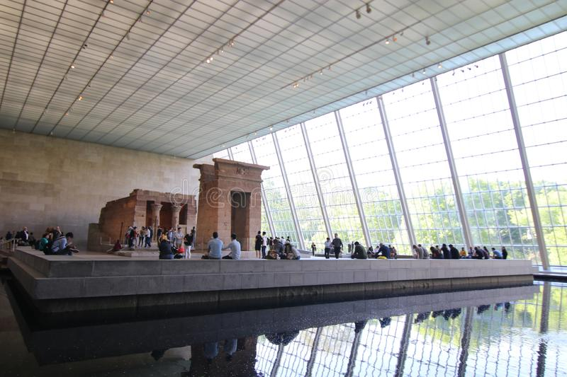 Temple of Dendur, Metropolitan Museum of Art, New York City royalty free stock images
