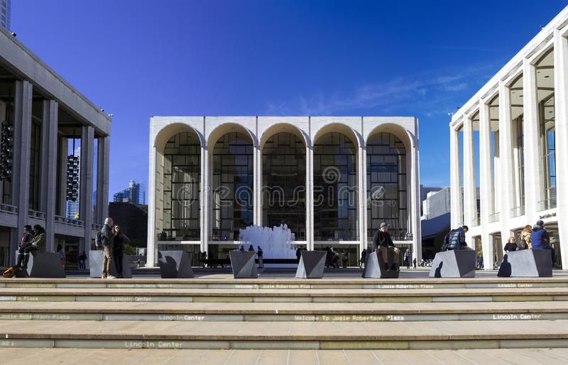 Metropolitan Opera House building in center photo located in New stock image