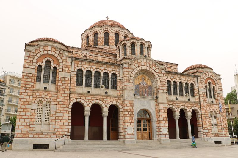 St. Nicholas Cathedral in Volos stock photo