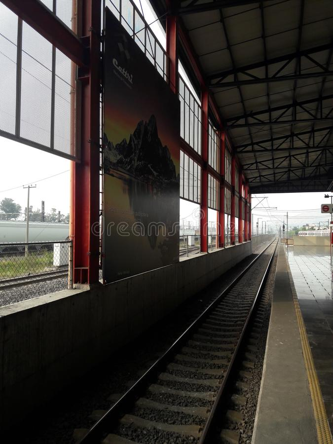 Metropolitana di area di Buena Vista DF Città del Messico Ecatepec di ligero di Tren immagine stock libera da diritti
