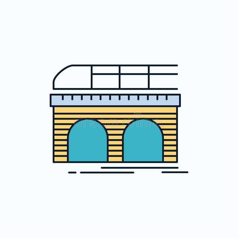 metropolitana, ferrovia, ferrovia, treno, icona piana di trasporto segno e simboli verdi e gialli per il sito Web e il appliation illustrazione di stock