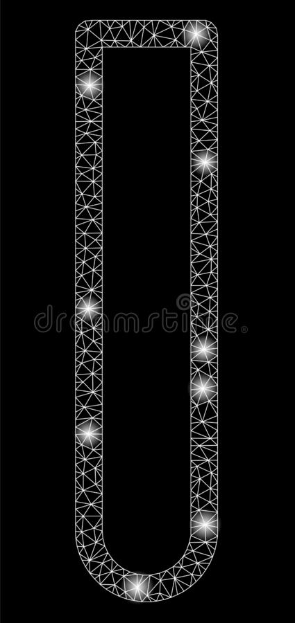Metropolitana luminosa di Mesh Wire Frame Empty Test con i punti istantanei illustrazione vettoriale