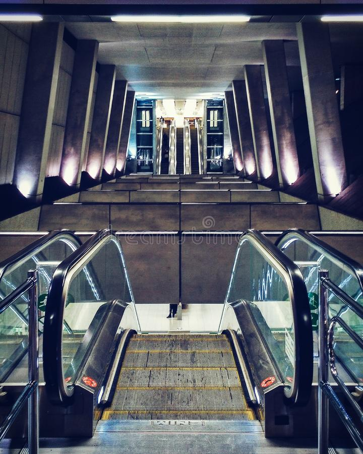 Metropolitana moderna a Budapest fotografia stock
