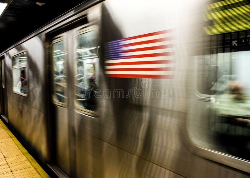 Metropolitana nel moto immagini stock libere da diritti
