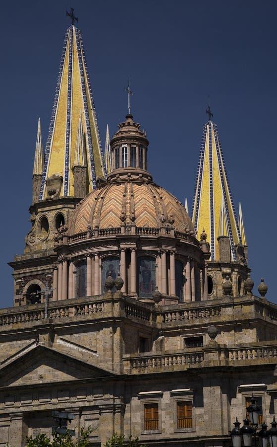 Metropolitankathedrale Guadalajara Mexiko lizenzfreie stockfotos