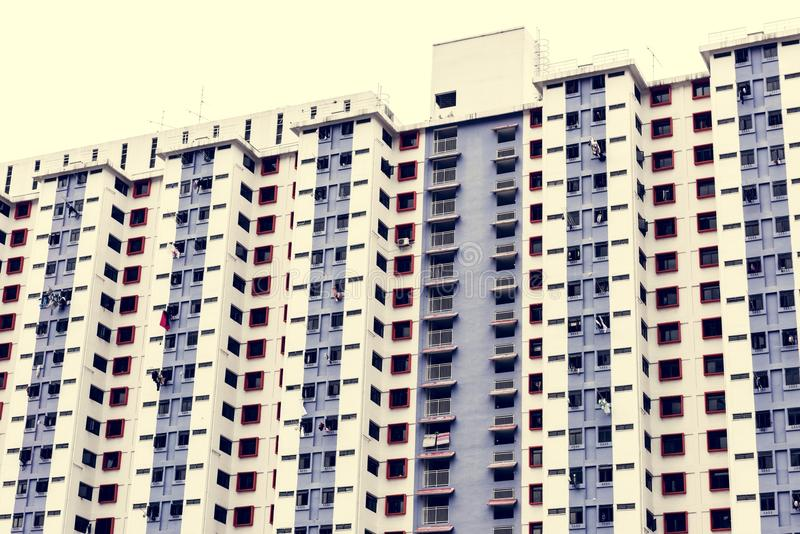 Metropolitano del scape de la ciudad de los edificios de apartamentos imagen de archivo libre de regalías