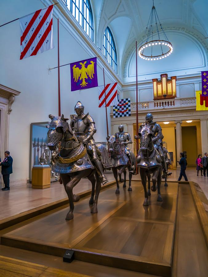 The Metropoliten museum armour colection, World`s abundance.  Ne York, United States of America. stock images