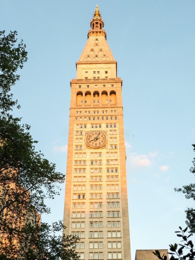Metropolity Ubezpieczenie Na ?ycie Firma wierza - Miasto Nowy Jork zdjęcie stock