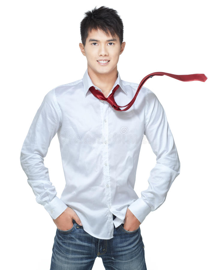 Download Metrosexual, Handsome Chinese Hunk In White Shirt Stock Image - Image: 10905303