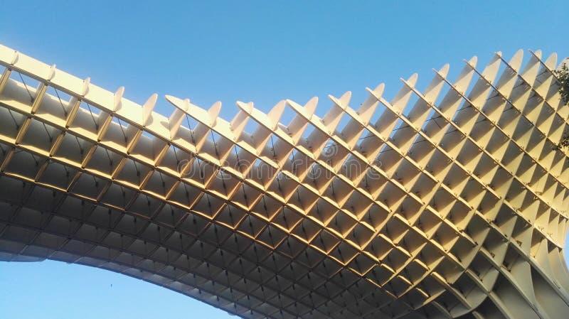 Metrosol Parasol de Sevilla. Architectonic detail of Metrosol Sevilla, also known as & x22;the mushroom& x22 stock images