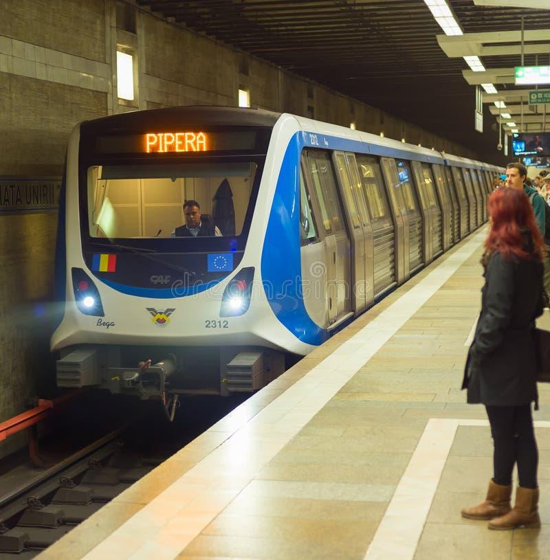 Metrostation Boekarest, Roemenië stock afbeeldingen