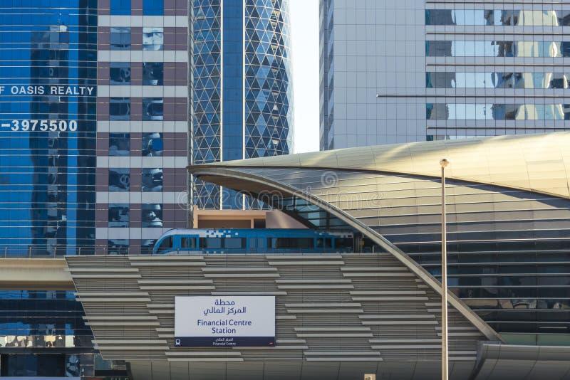 Metrostation Dubai stockbilder