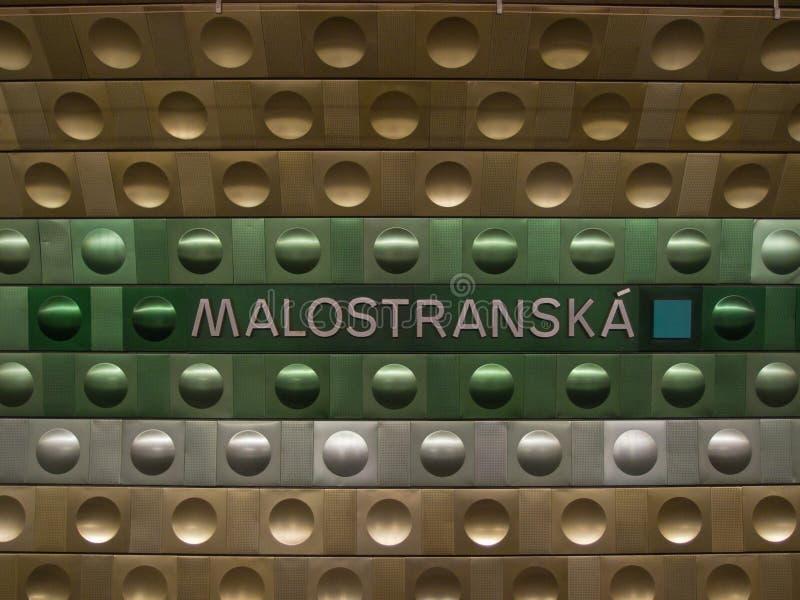 Metrostation i Prague royaltyfri bild