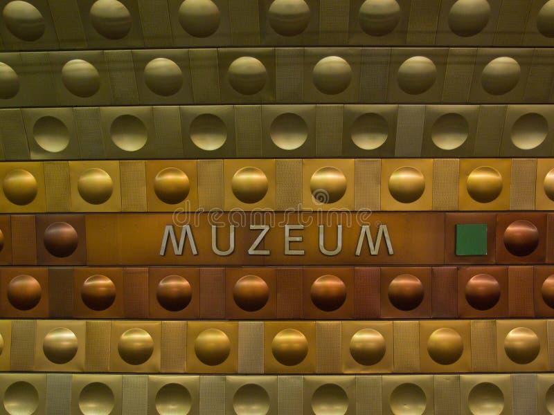 Metrostation i Prague arkivbilder