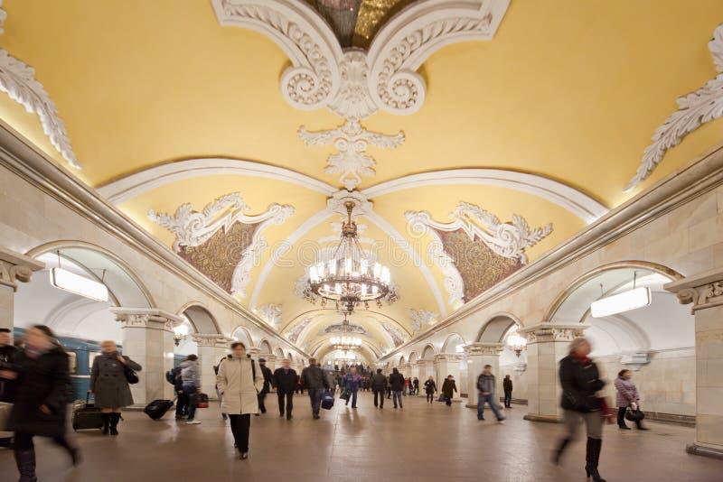 Metrostation Komsomolskaya lizenzfreies stockfoto