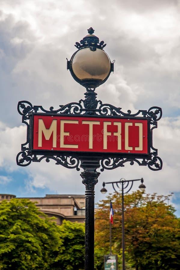 Metroteken in Parijs royalty-vrije stock foto's