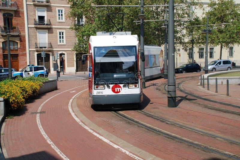 Metrovalencia tram, Valencia stock image