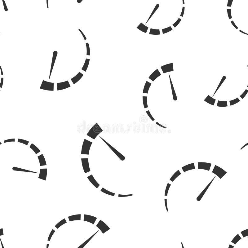 Metrowej deski rozdzielczej ikony bezszwowy deseniowy tło Kredytowego wynika wskaźnika pozioma wektoru ilustracja Wymierniki z mi ilustracji