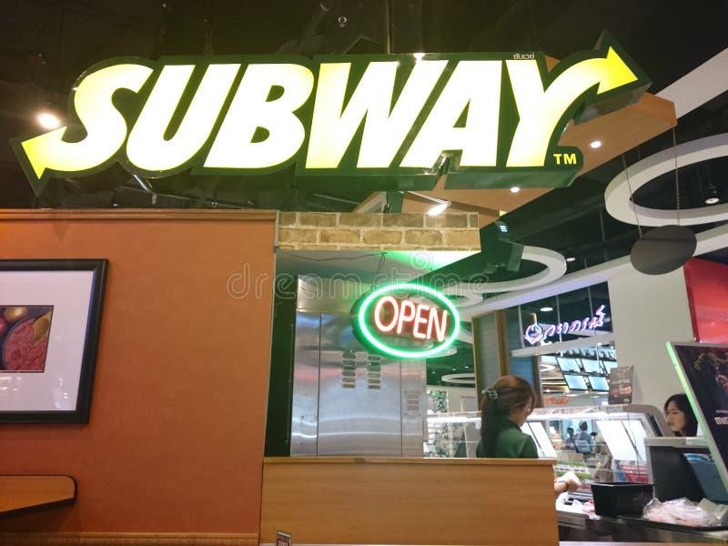 Metrowinkel in Thailand stock afbeeldingen