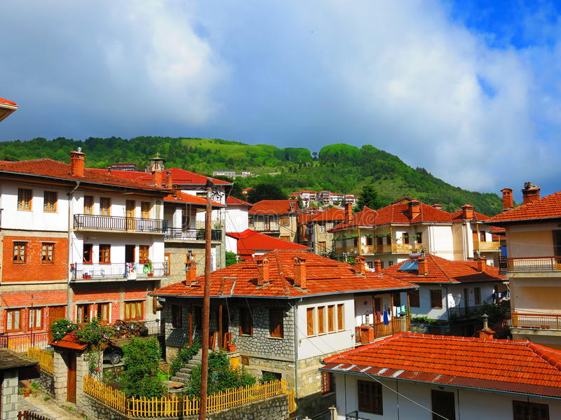Metsovo town in Greece. Metsovo town in Northern Greece stock photography
