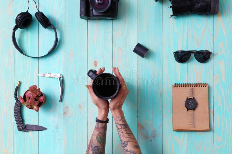 Metta, collage del ` la s, accessori degli uomini del ` s delle donne immagini stock libere da diritti