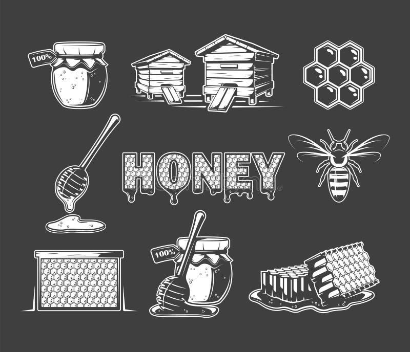 Metta degli elementi del miele royalty illustrazione gratis