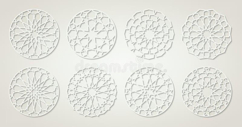 Metta dei modelli arabi bianchi illustrazione vettoriale