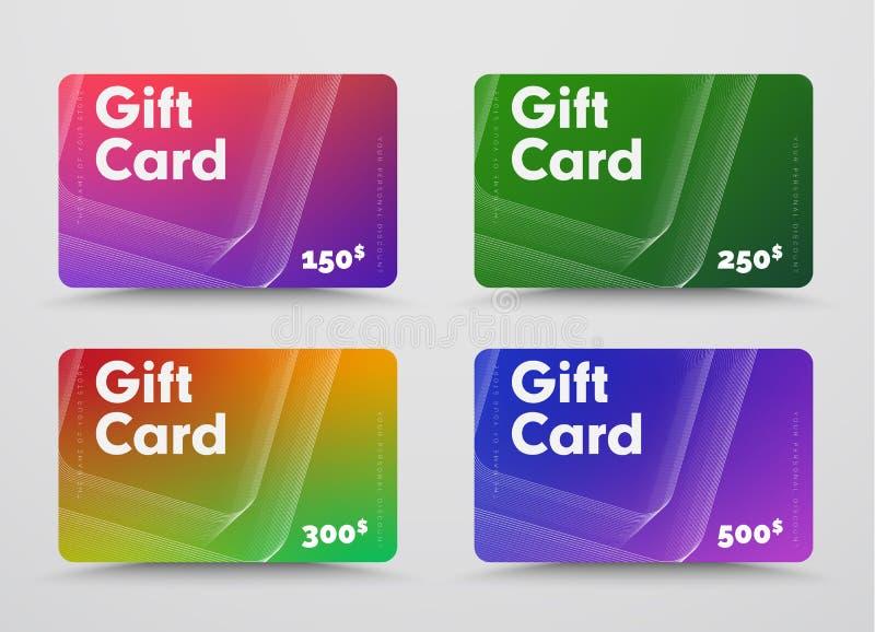 Metta dei modelli della carta di regalo con i quadrati astratti invertiti volumetrici fatti dai colpi royalty illustrazione gratis