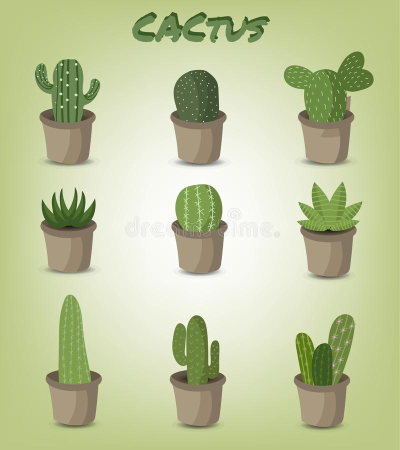 Metta del cactus verde royalty illustrazione gratis