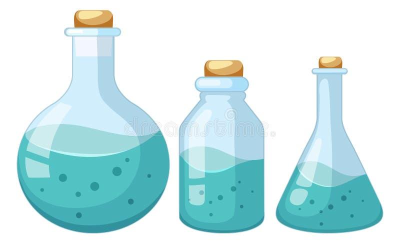 Metta del campione liquido del chimico royalty illustrazione gratis