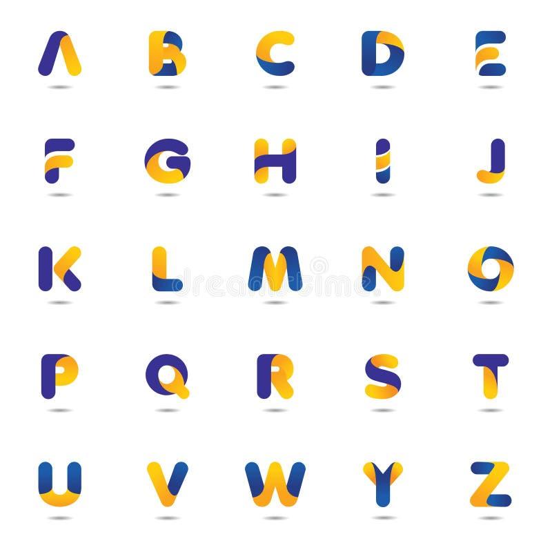 Metta del logo astratto dell'alfabeto illustrazione di stock