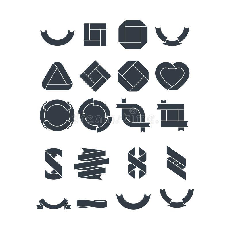 Metta del logo d'annata geometrico illustrazione vettoriale