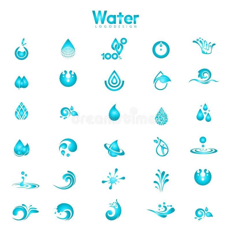 Metta del logo dell'acqua illustrazione di stock