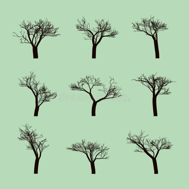 Metta del logo dell'albero illustrazione di stock