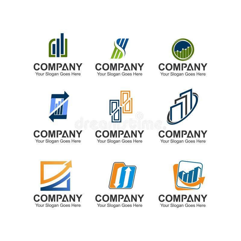 Metta del logo di finanza e di affari illustrazione vettoriale