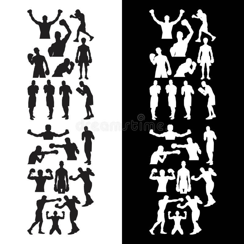 Metta del logo di pugilato di sport illustrazione di stock