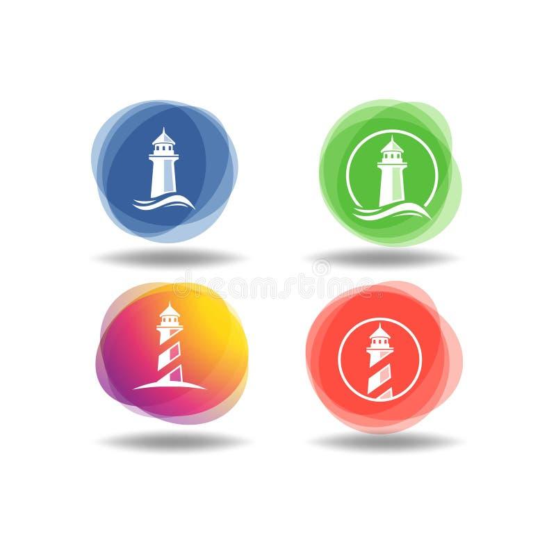 Metta del logo moderno della casa leggera royalty illustrazione gratis