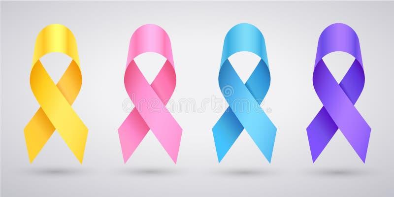 Metta del nastro del cancro di consapevolezza royalty illustrazione gratis
