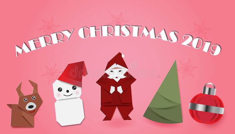 Metta del Natale su fondo rosa illustrazione vettoriale