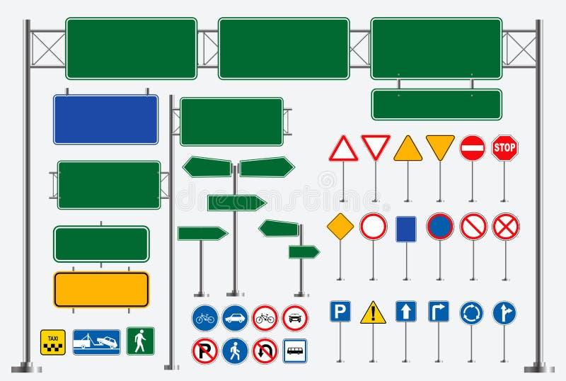 Metta del segnale stradale facile modificare illustrazione vettoriale