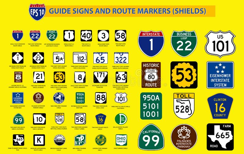 Metta del segnale stradale unito dello stato facile a modif royalty illustrazione gratis