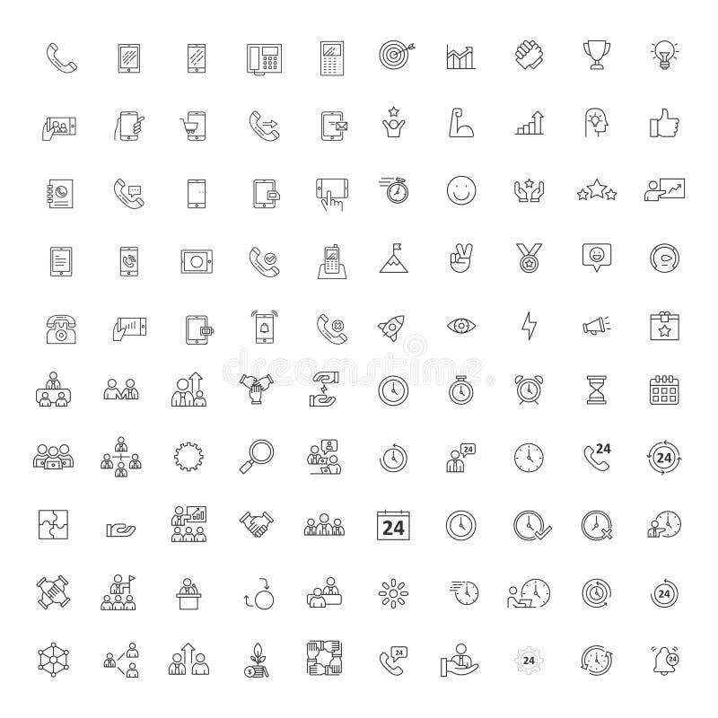 Metta del simbolo dell'icona della tecnologia e di affari illustrazione di stock
